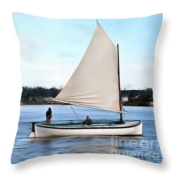 Admirable Sailing On Lake Union Throw Pillow