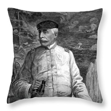Admiral Dewey At Sea Throw Pillow