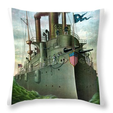 Admiral Dewey's Flagship Olympia  Throw Pillow