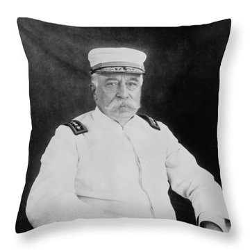 Admiral George Dewey Throw Pillow