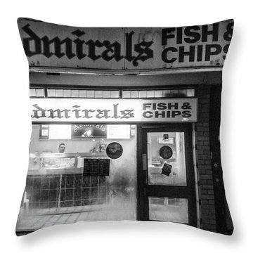 Admirals Fish And Chips Throw Pillow