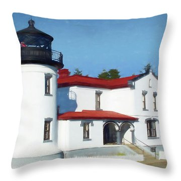Admiralty Head Lighthouse #2 Throw Pillow