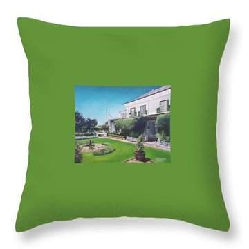 Admiralty House Throw Pillow by Tim Johnson