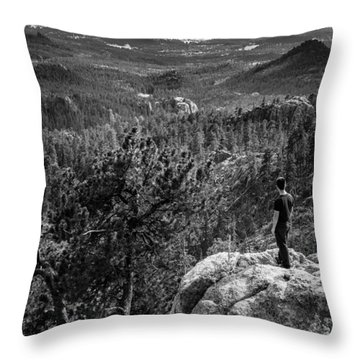 Needles Point South Dakota Throw Pillow