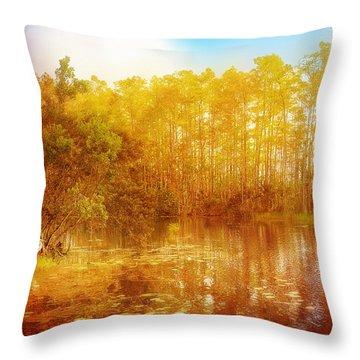 Admiring Fall Throw Pillow