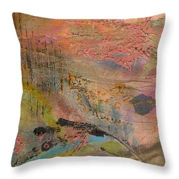 Admiring God's Handiwork II Throw Pillow by Angela L Walker