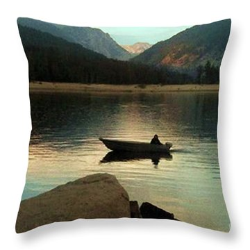 Admiring God's Work Throw Pillow