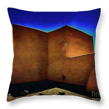 Adobe Church II Throw Pillow