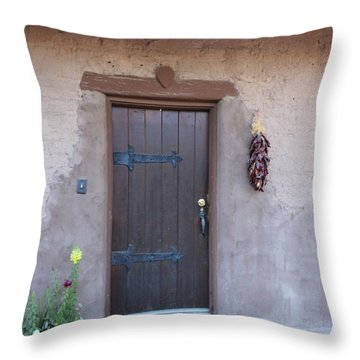 Adobe Door Throw Pillow