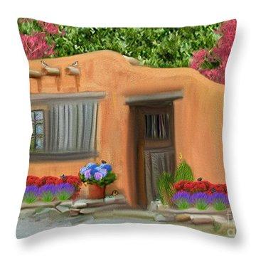 Adobe Home Throw Pillow