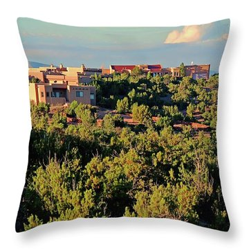 Throw Pillow featuring the photograph Adobe Homestead Santa Fe by Diana Mary Sharpton