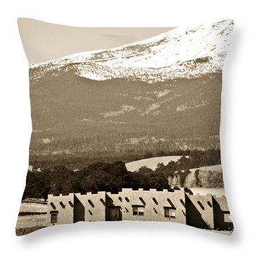 Adobe House Throw Pillow by Marilyn Hunt
