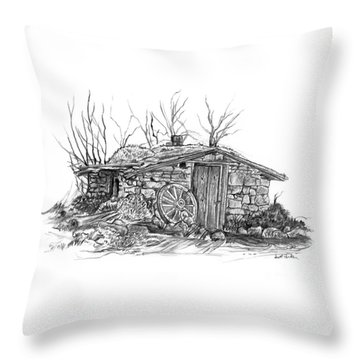 Adobe House Throw Pillow