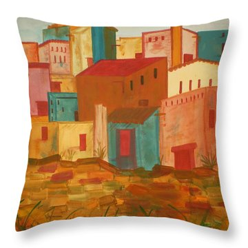 Adobe Village Throw Pillow
