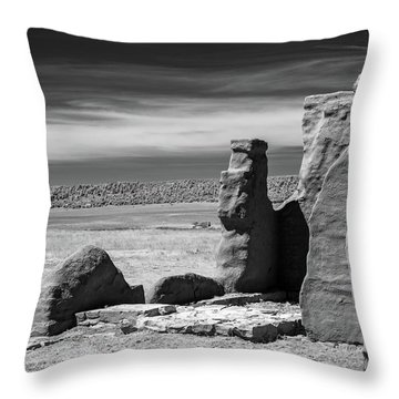 Throw Pillow featuring the photograph Adobe Walls by James Barber