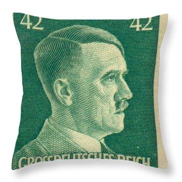 Adolf Hitler 42 Pfennig Stamp Classic Vintage Retro Throw Pillow