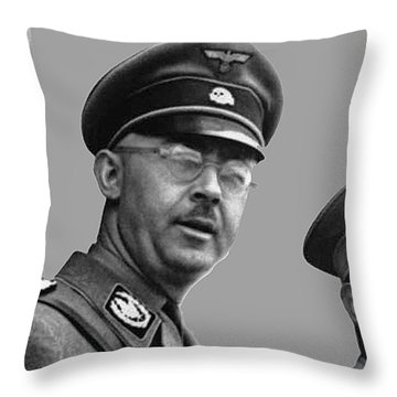 Adolf Hitler And Gestapo Head Heinrich Himmler Watching Parade Of Nazi Stormtroopers 1940-2015 Throw Pillow