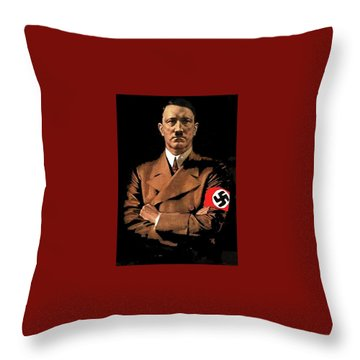 Adolf Hitler Painting Circa  1940 Color Added 2016 Throw Pillow