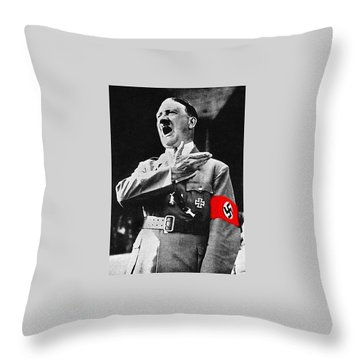 Adolf Hitler Ranting 1  Throw Pillow by David Lee Guss