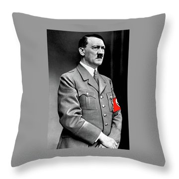 Adolf Hitler The Visionary Circa 1941 Color Added 2016 Throw Pillow