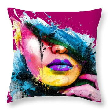 Adonis T-shirt Throw Pillow by Herb Strobino