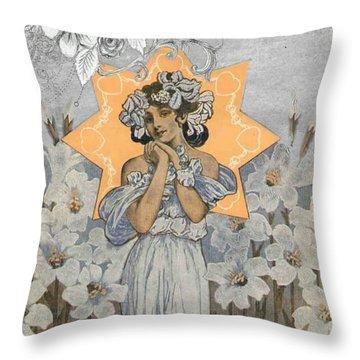 Adoration Art Deco Throw Pillow