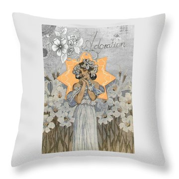 Adoration Art Deco Throw Pillow