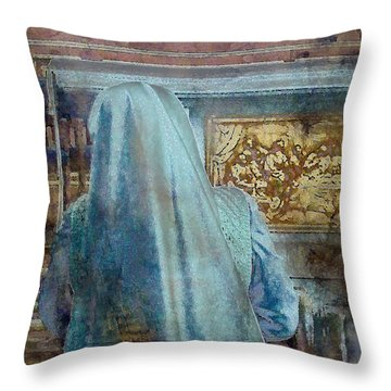 Throw Pillow featuring the photograph Adoration Chapel 3 by Kate Word