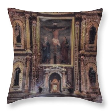 Throw Pillow featuring the photograph Adoration Chapel 5 by Kate Word