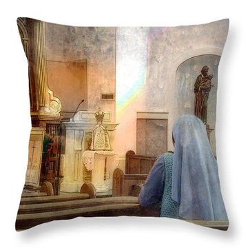 Throw Pillow featuring the photograph Adoration Chapel by Kate Word