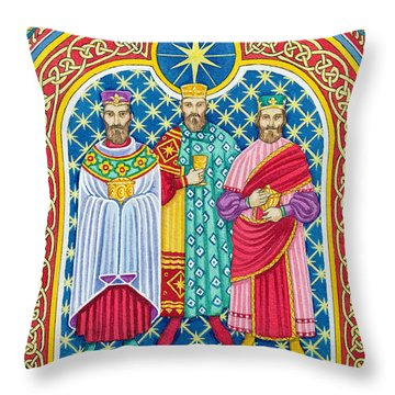 Adoration Of The Magi  Throw Pillow by Lavinia Hamer