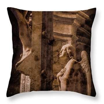 Paris, France - Adoring Angel Throw Pillow