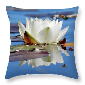 Adoring White Throw Pillow