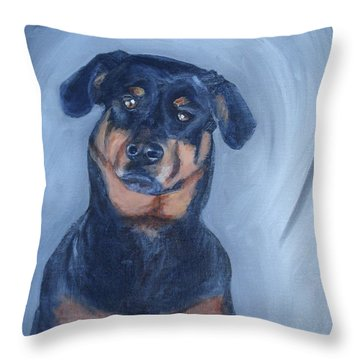 Throw Pillow featuring the painting Adrian by Donna Tuten