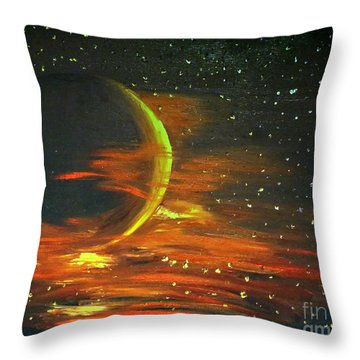 Adrift - In Space Throw Pillow