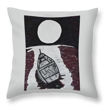Adrift Throw Pillow by Jonathon Hansen