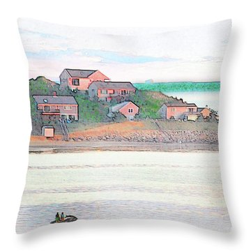 Adrift On The Bay At Sunset Throw Pillow
