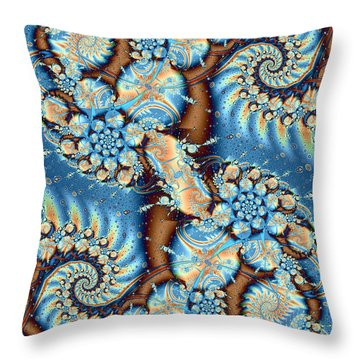 Throw Pillow featuring the digital art Adrift by Richard Ortolano