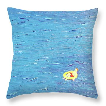 Adrift Throw Pillow by Thomas Blood