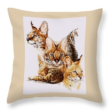 Throw Pillow featuring the drawing Adroit by Barbara Keith