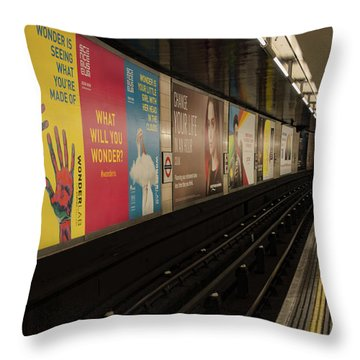 Ads Underground Throw Pillow
