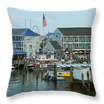 Adult Fun - Ocean City Md Throw Pillow