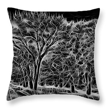 Advent Trees Throw Pillow by Aliceann Carlton