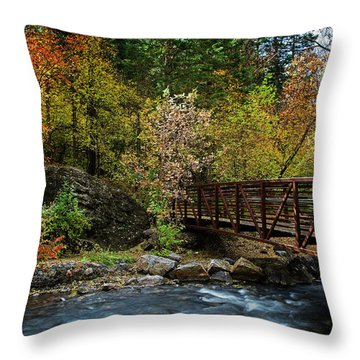 Throw Pillow featuring the photograph Adventure Bridge by Scott Read