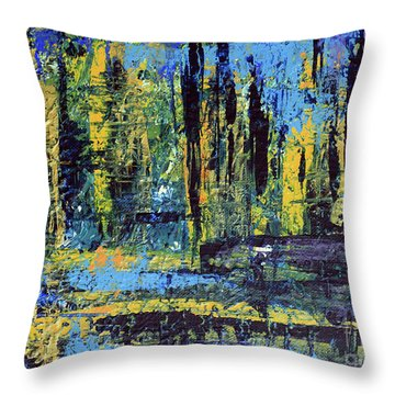 Adventure II Throw Pillow by Cathy Beharriell