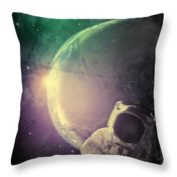 Adventure In Space Throw Pillow by Phil Perkins