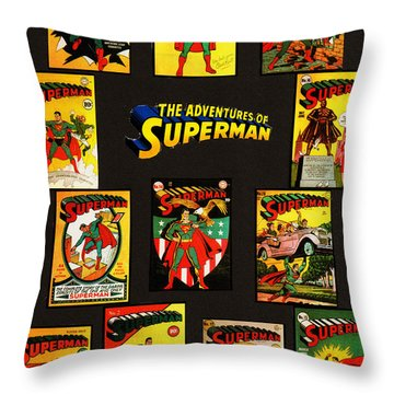 Adventures Of Superman Throw Pillow