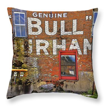Advertising Of The Past Throw Pillow