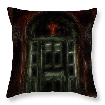 Adytum Throw Pillow by William Horden