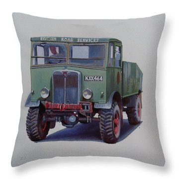 Throw Pillow featuring the painting Aec Matador Brs. by Mike Jeffries